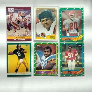 Lot Of 6 Football Cards